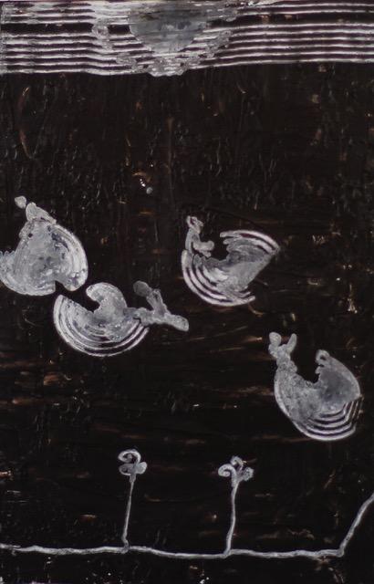 Reset (Serie), 2020, Zeichnung auf gewachstem Papier, ca. 35x25 cm