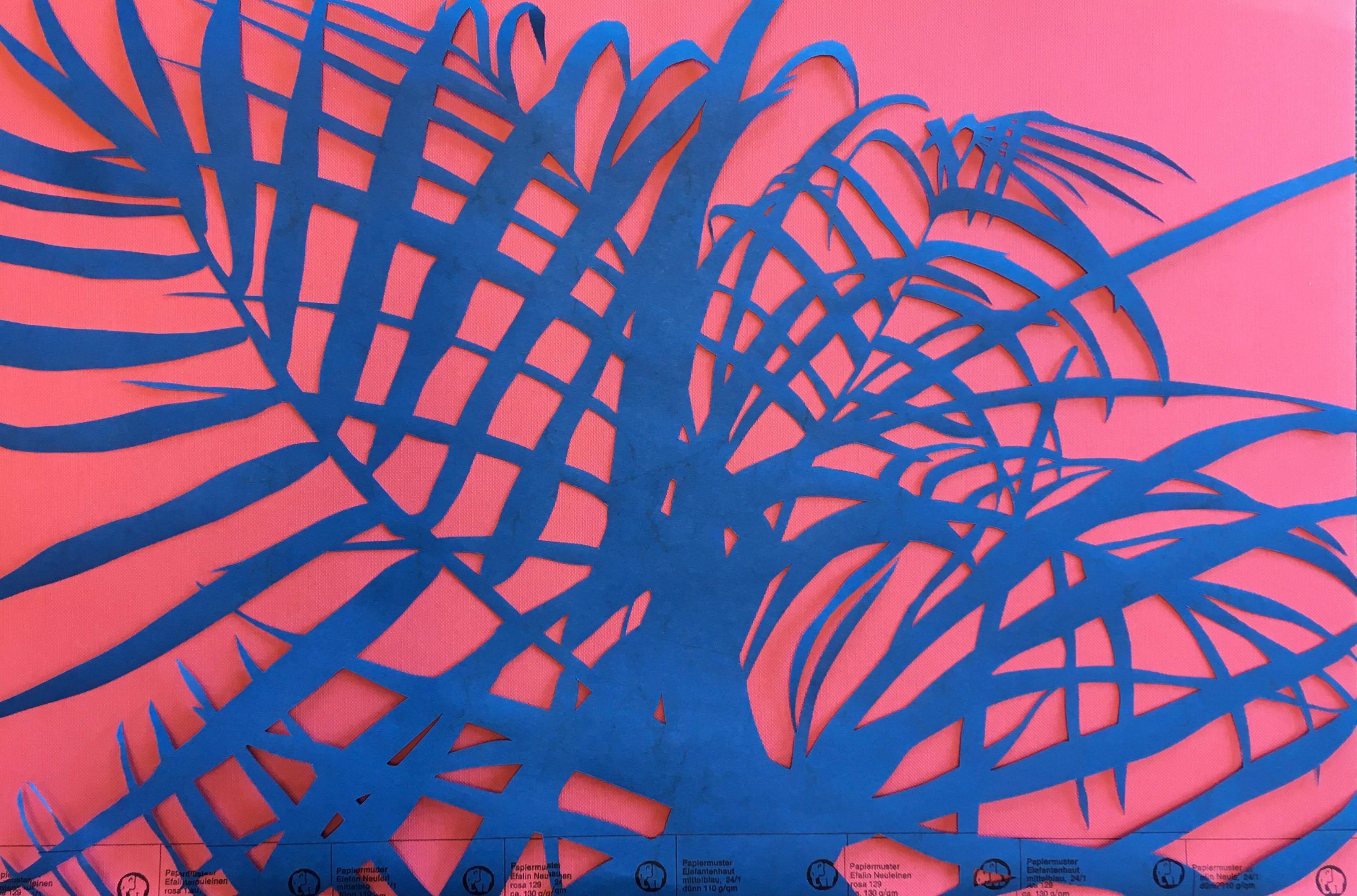 Palme, Papierschnitt, 2020